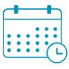 An icon of a wall calendar