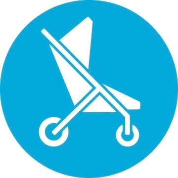 An icon image of a stroller